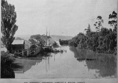 Northern Steamship Company's wharf, Paeroa